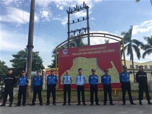 Triển khai công tác bảo vệ tại khu công nghiệp Phú nghĩa
